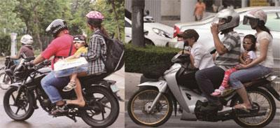 만다웨시 오토바이 어린이 탑승 금지법 시행