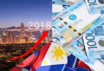 2018년 필리핀 경제성장율 7.0~8.0% 낙관적 전망