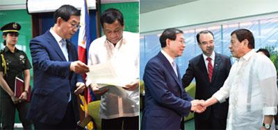 박원순 대통령 특사 필리핀 방문