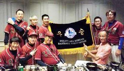 세부 한인야구단 가리온스 필리핀 한인 야구대회 우승